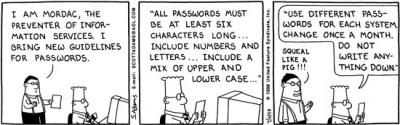 Dilbert on Mordac passwords