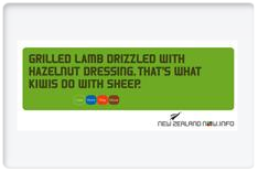 What Kiwis do with sheep